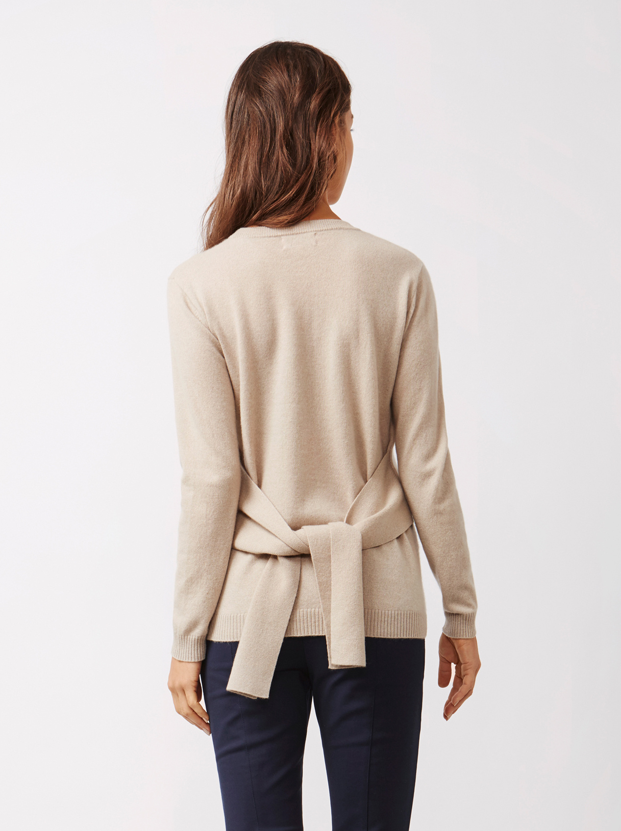 Soft Goat Women's Knot Sweater Sand