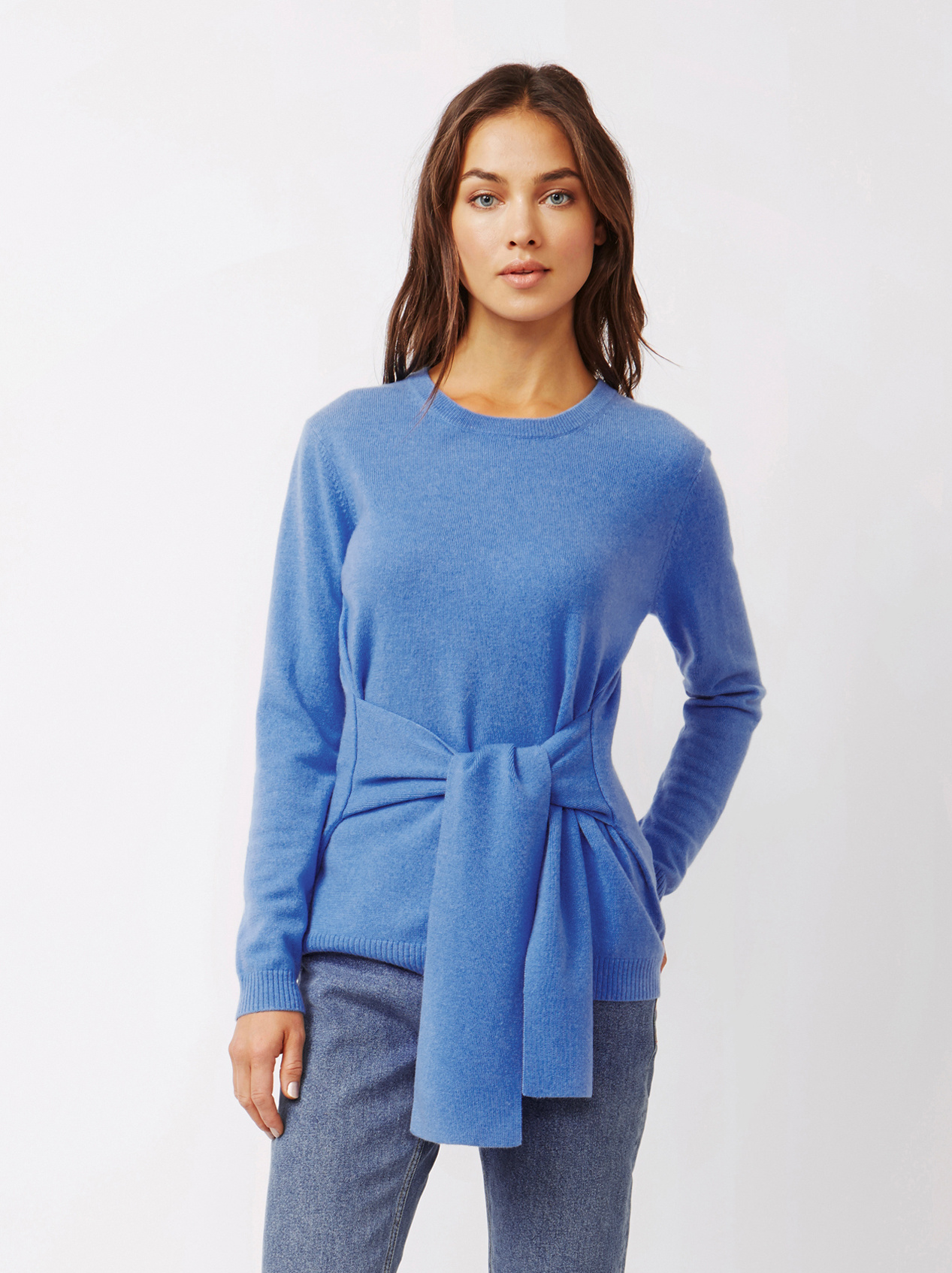 Soft Goat Women's Knot Sweater Sky Blue