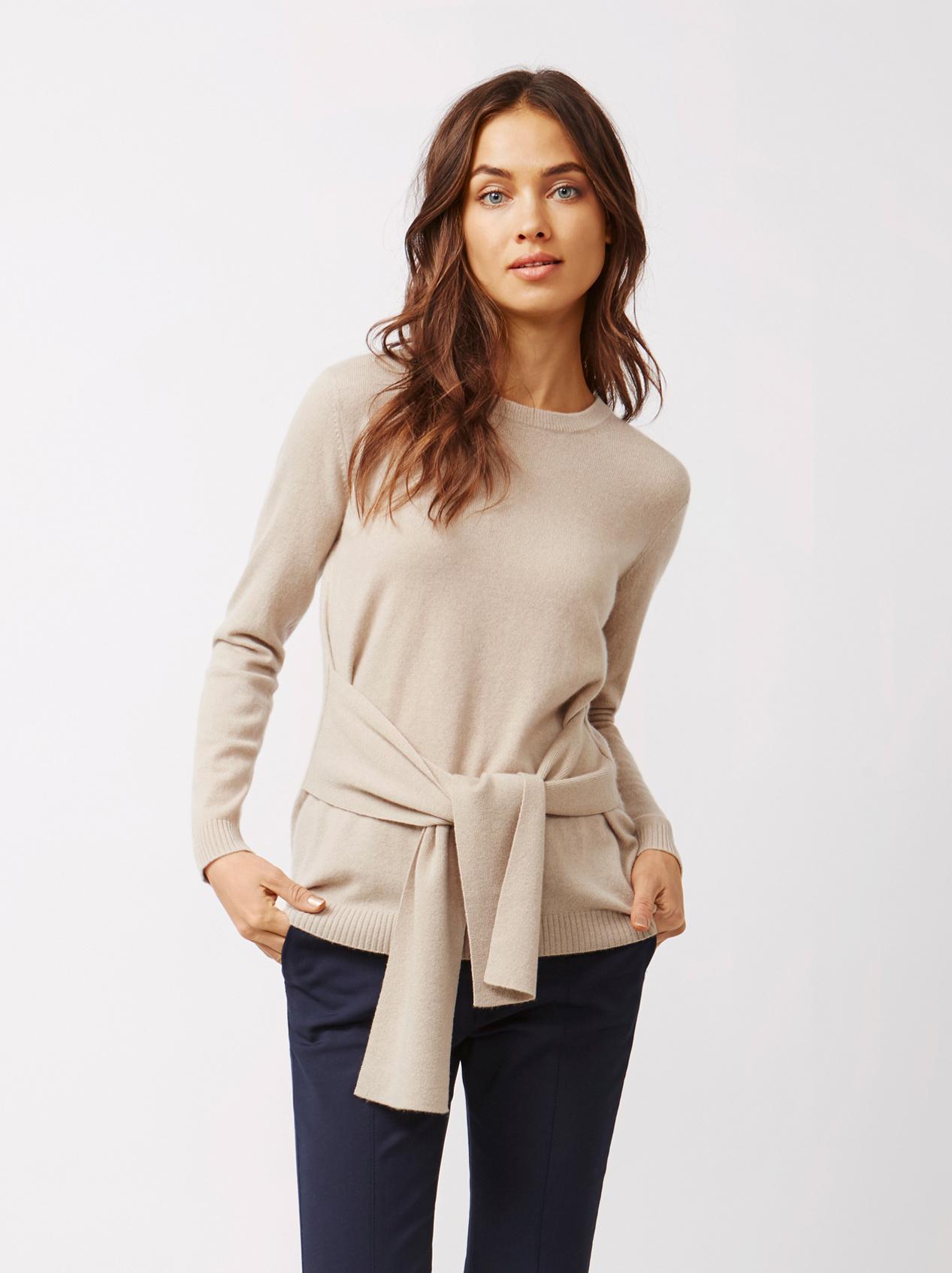 Soft Goat Women's Knot Sweater Sand