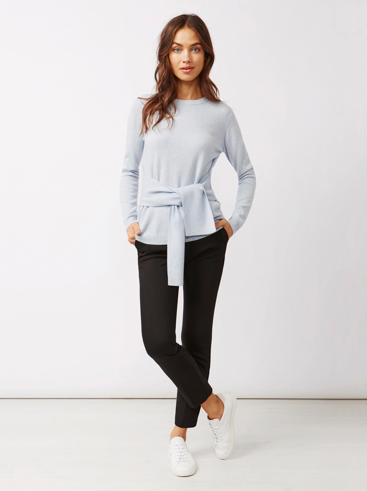 Soft Goat Women's Knot Sweater Light Blue
