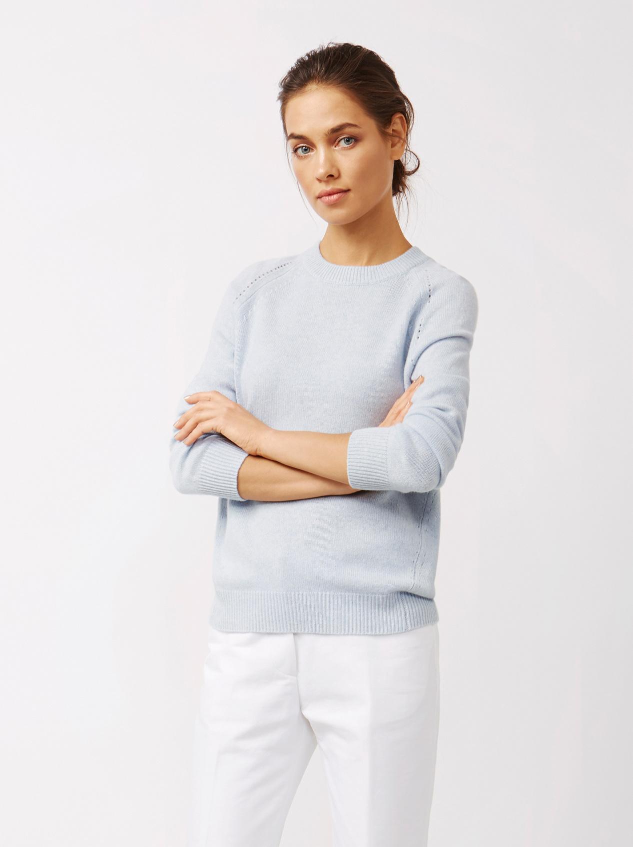 Soft Goat Women's Soft Sweater Light Blue