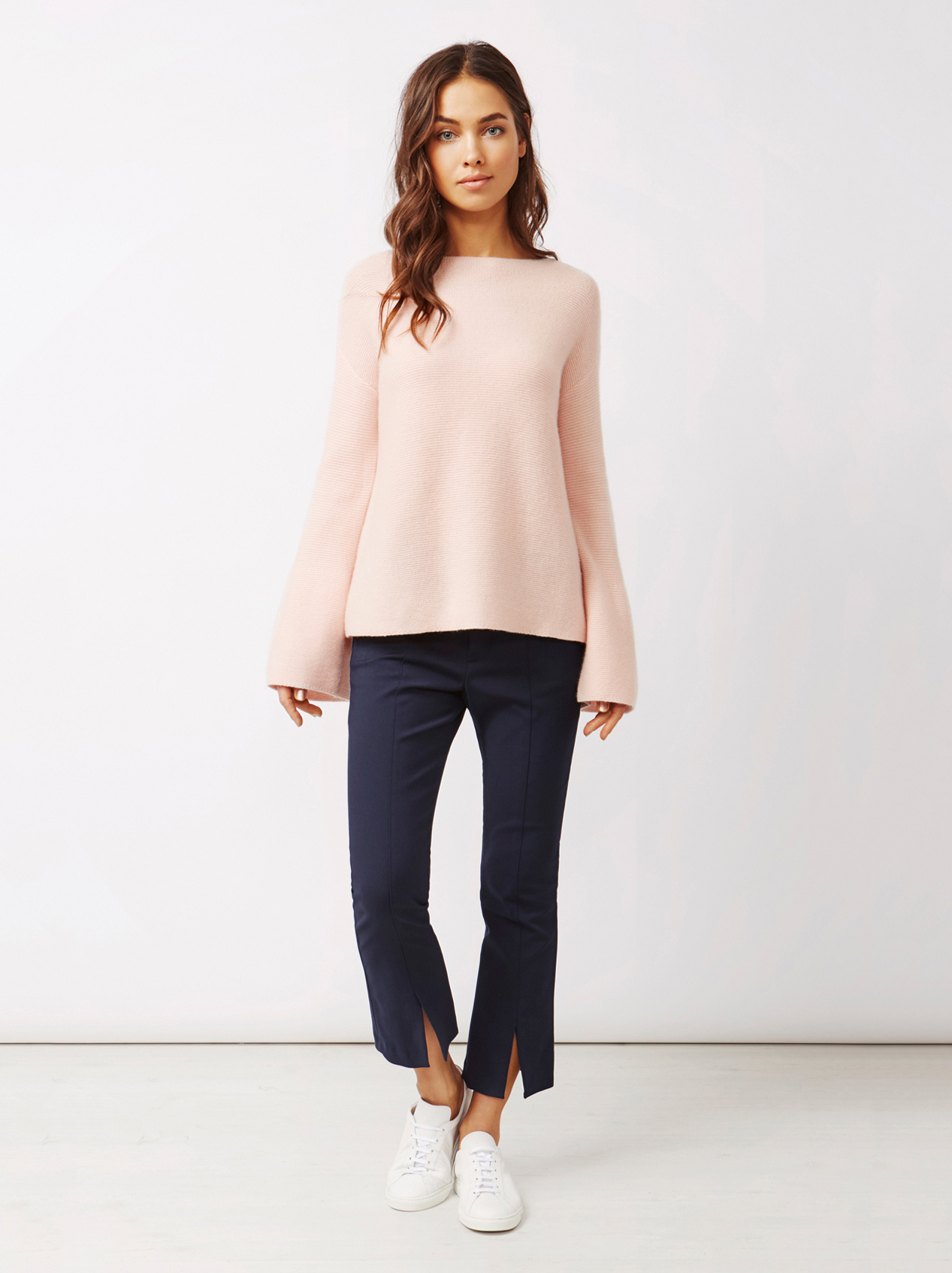 Soft Goat Women's Chunky Boatneck Powder