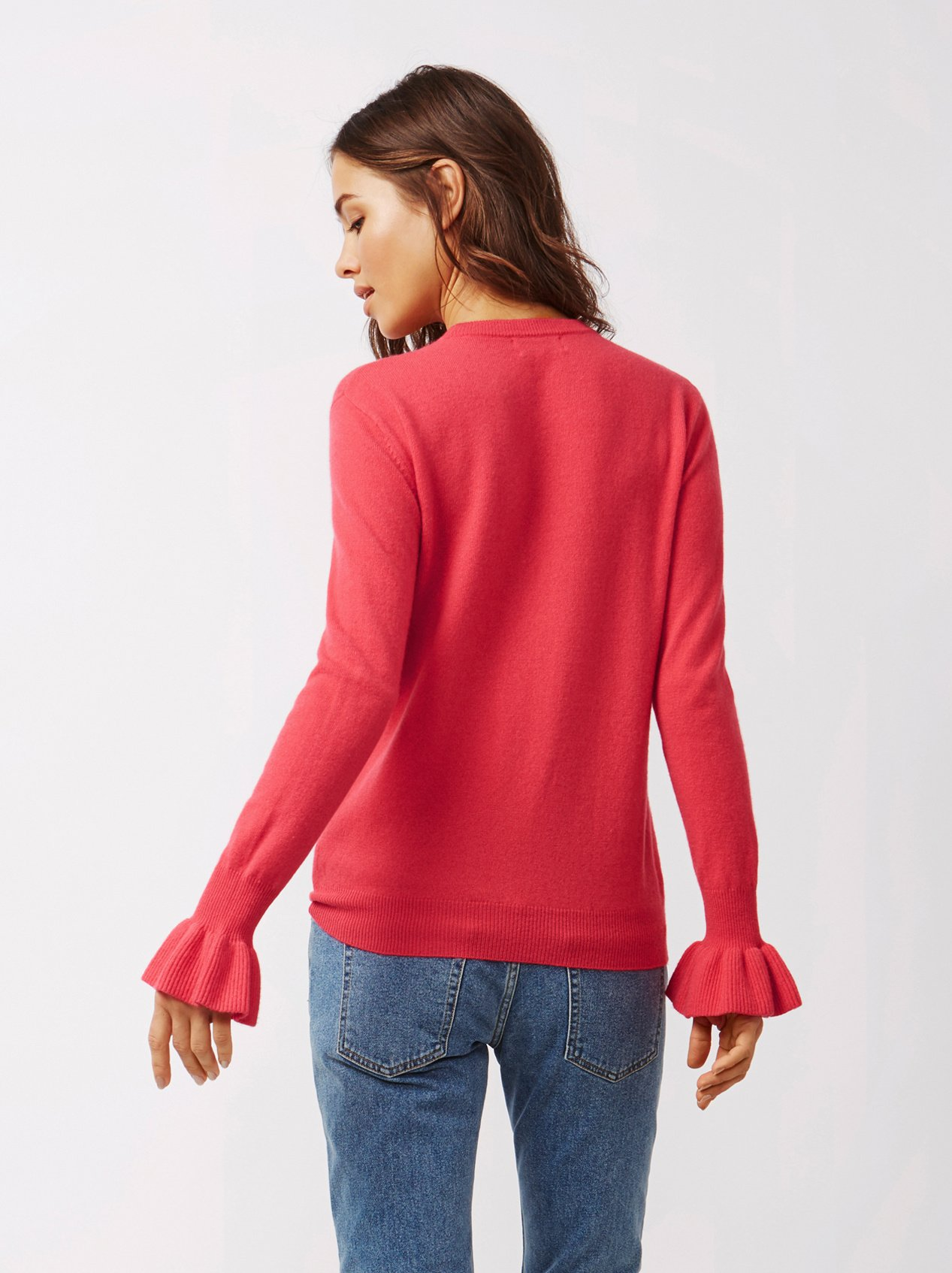 Soft Goat Women's Frill Sweater Very Berry