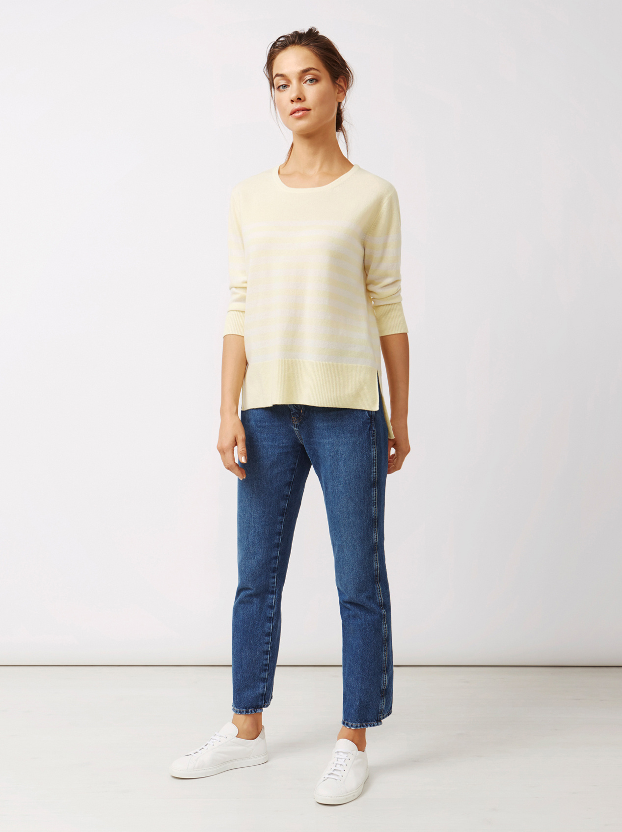 Soft Goat Women's Striped Sweater Limoncello