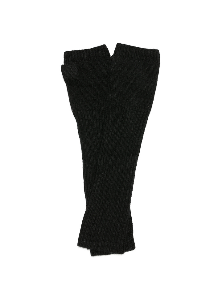 Soft Goat Arm Warmers Black