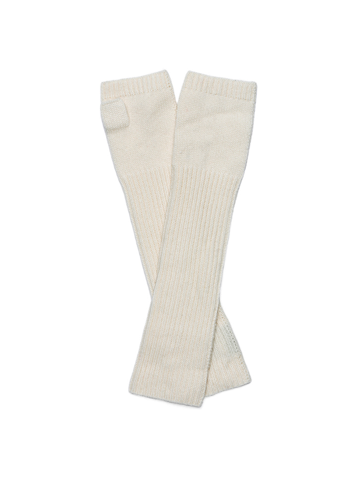 Soft Goat Arm Warmers Off White