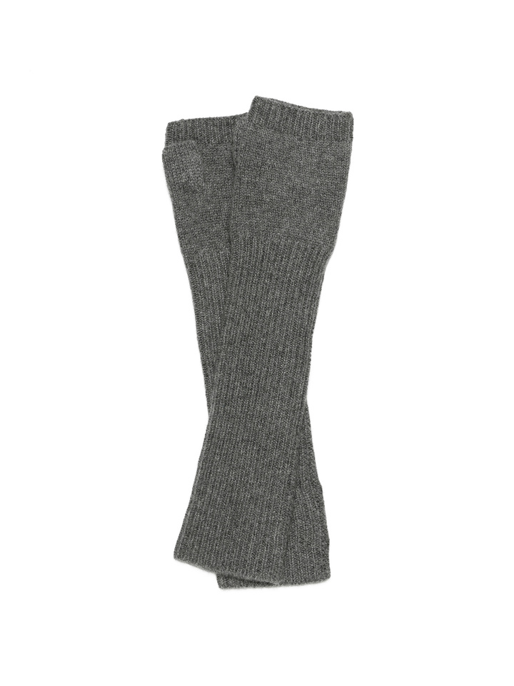 Soft Goat Arm Warmers Dark Grey