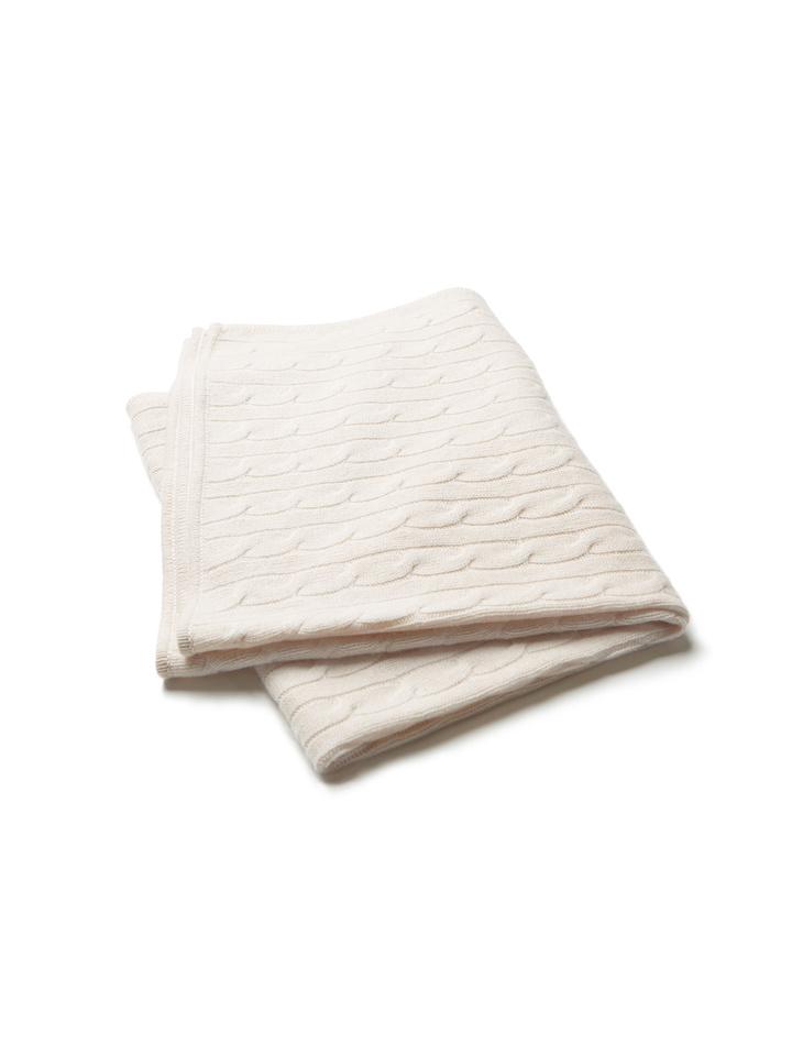 Soft Goat Baby Blanket Beige Beige