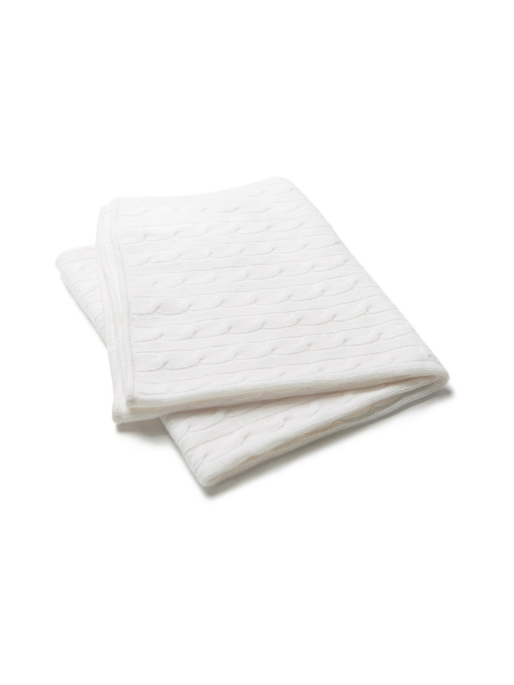 Soft Goat Baby Blanket Off White Off White