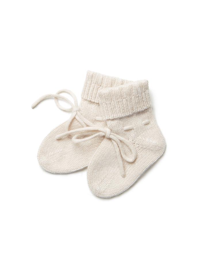 Soft Goat Baby Socks Beige