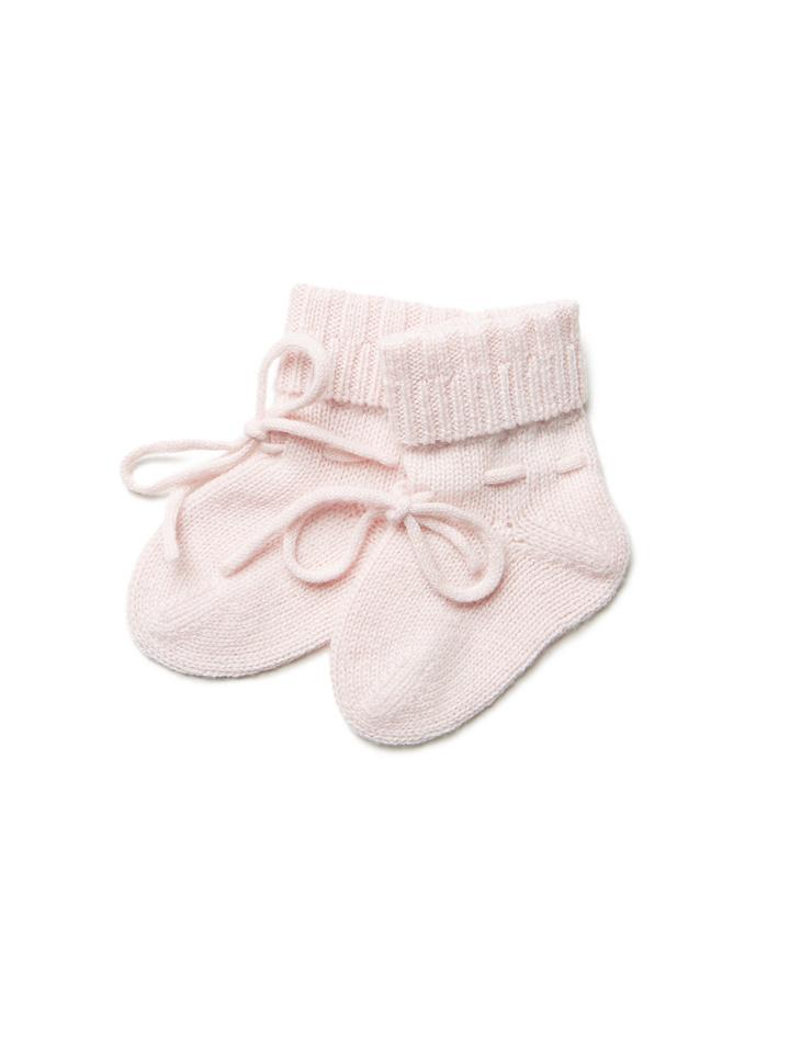 Soft Goat Baby Socks Baby Pink