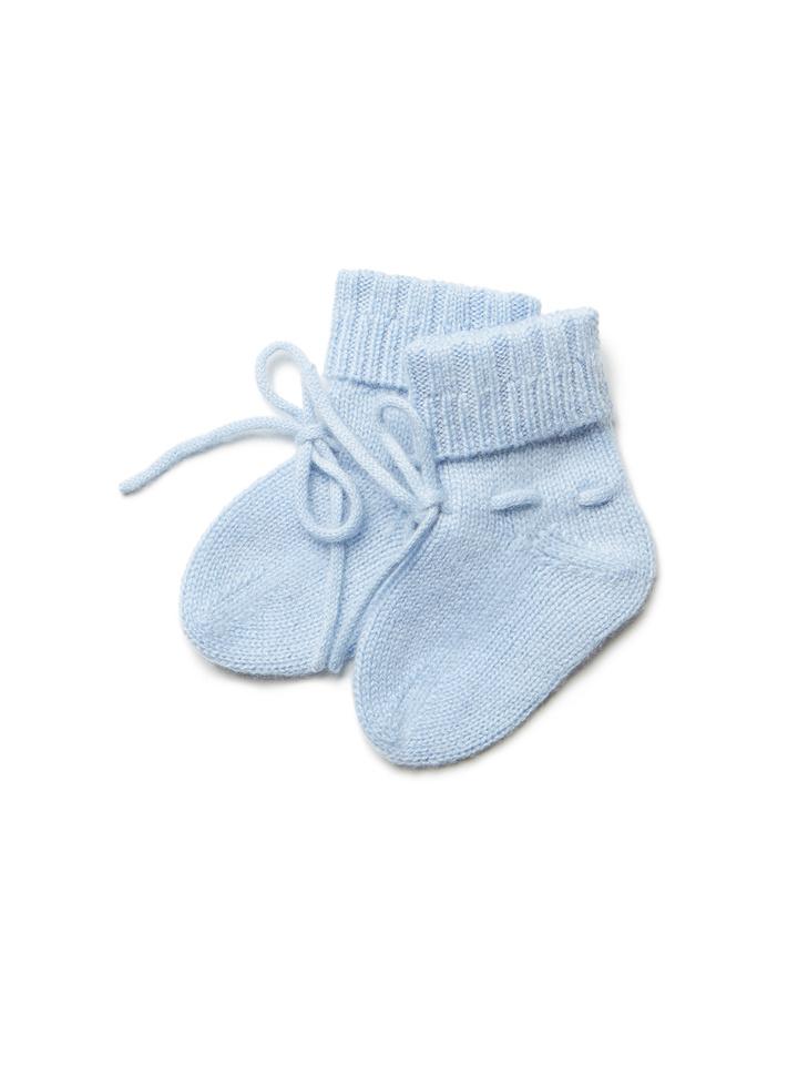 Soft Goat Baby Socks Baby Blue