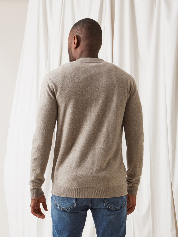 Soft Goat Men's Bomber Sweater Light Taupe