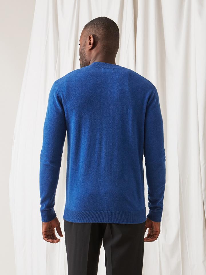 Soft Goat Men's Bomber Sweater Royal Blue
