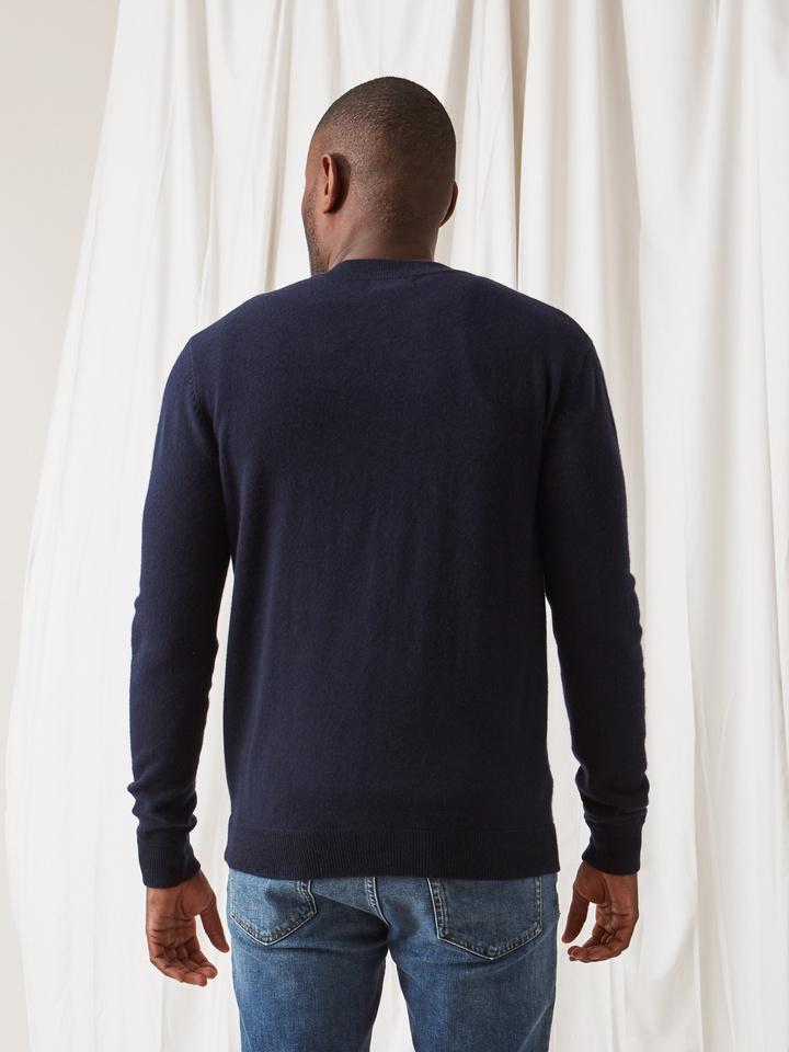 Soft Goat Men's Bomber Sweater Navy