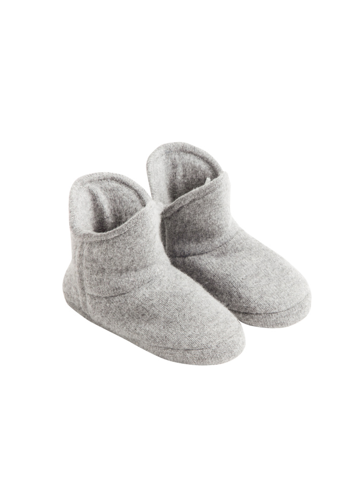 Soft Goat Cashmere Bootie Light Grey
