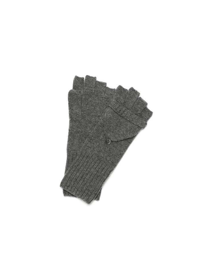 Soft Goat Convertible Gloves Dark Grey