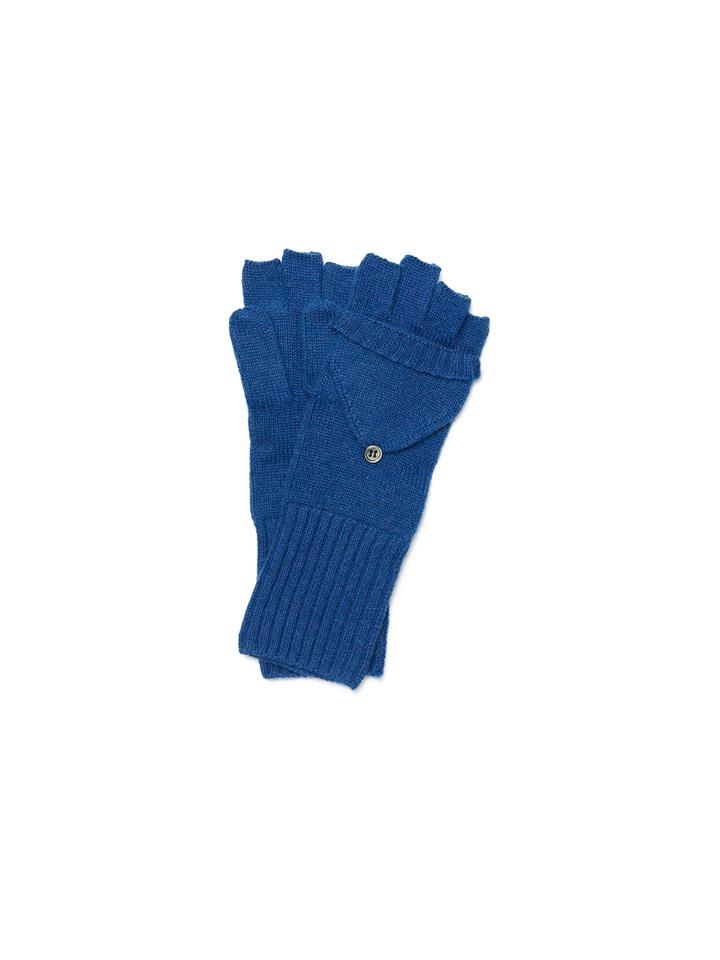Soft Goat Convertible Gloves Royal Blue