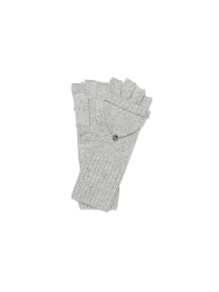 Soft Goat Convertible Gloves Light Grey