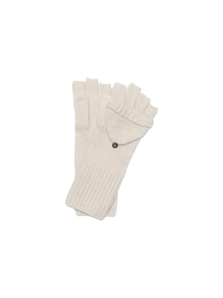Soft Goat Convertible Gloves Beige