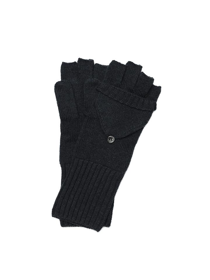 Soft Goat Convertible Gloves Black