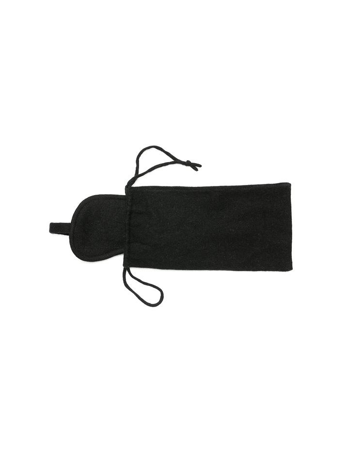 Soft Goat Eye Mask & Bag Black