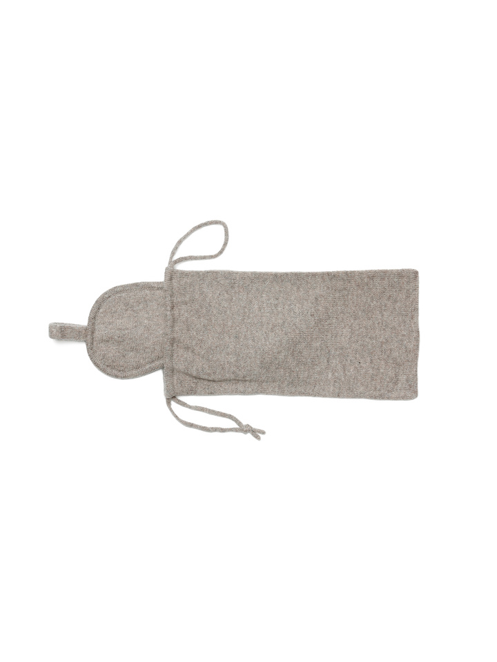 Soft Goat Eye Mask & Bag Light Taupe