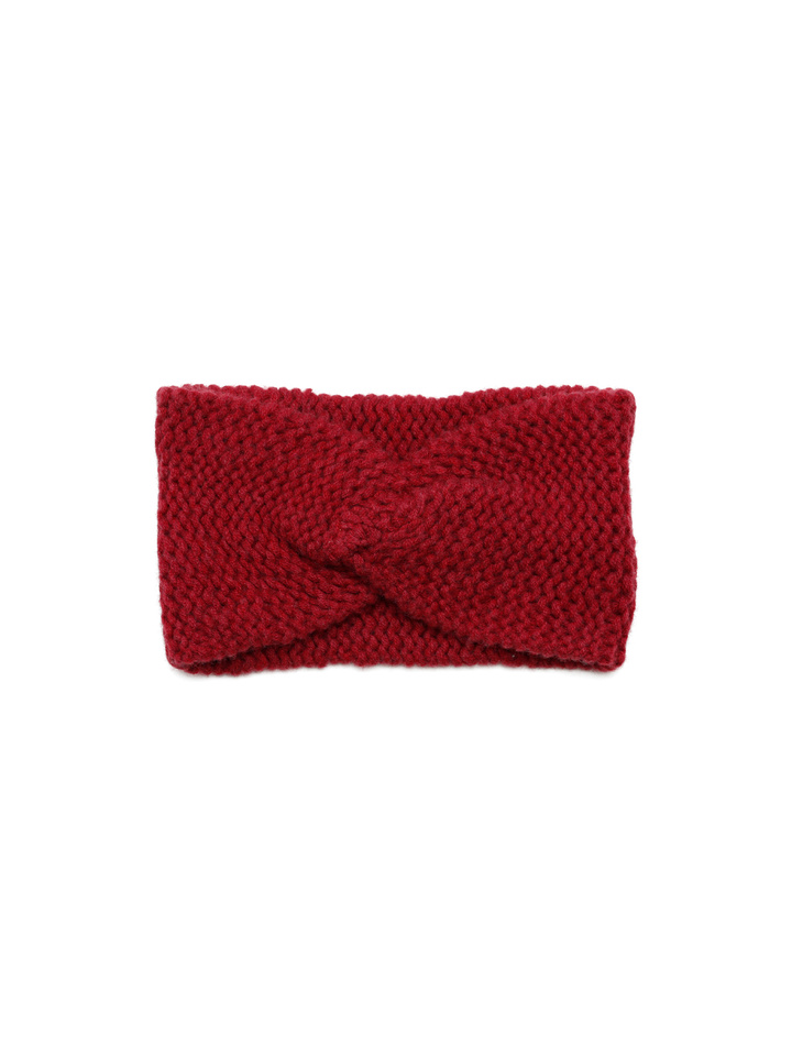 Soft Goat Knot Headband Pomegranate
