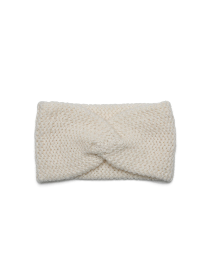 Soft Goat Knot Headband Off White