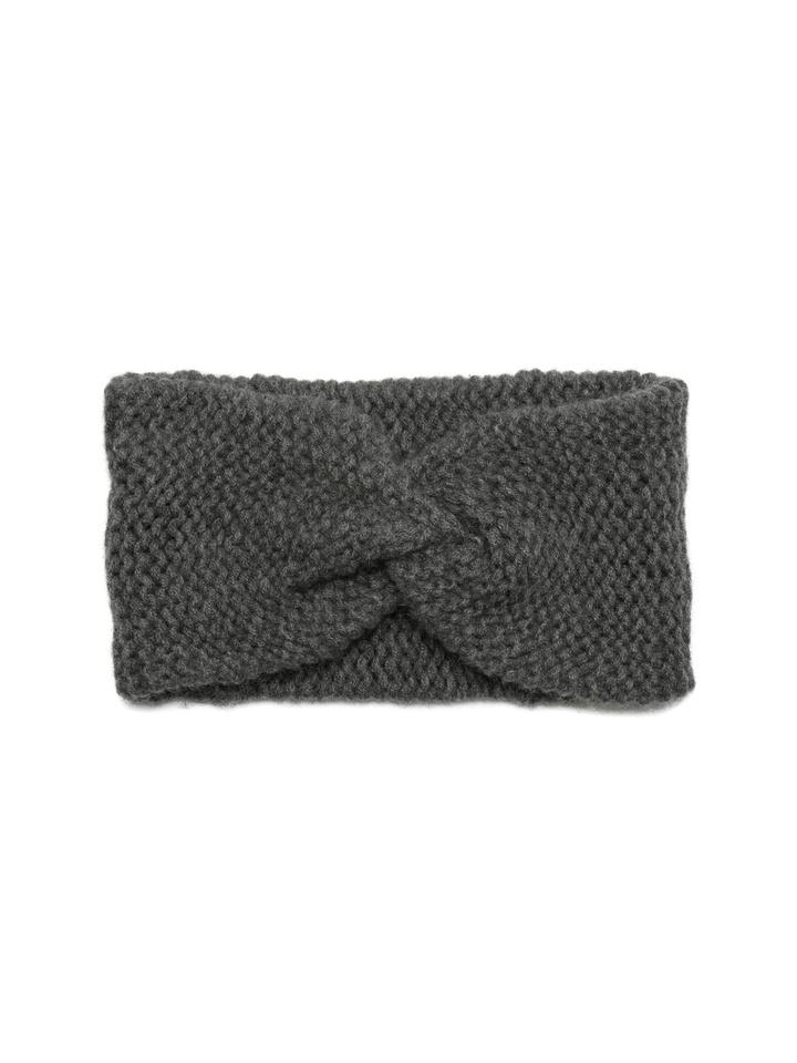 Soft Goat Knot Headband Dark Grey