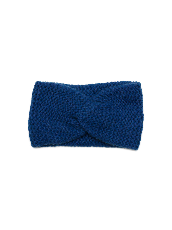 Soft Goat Knot Headband Royal Blue