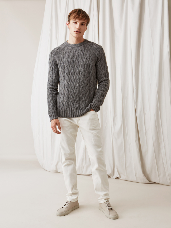 Thumbnail Men's Chunky Cable Knit