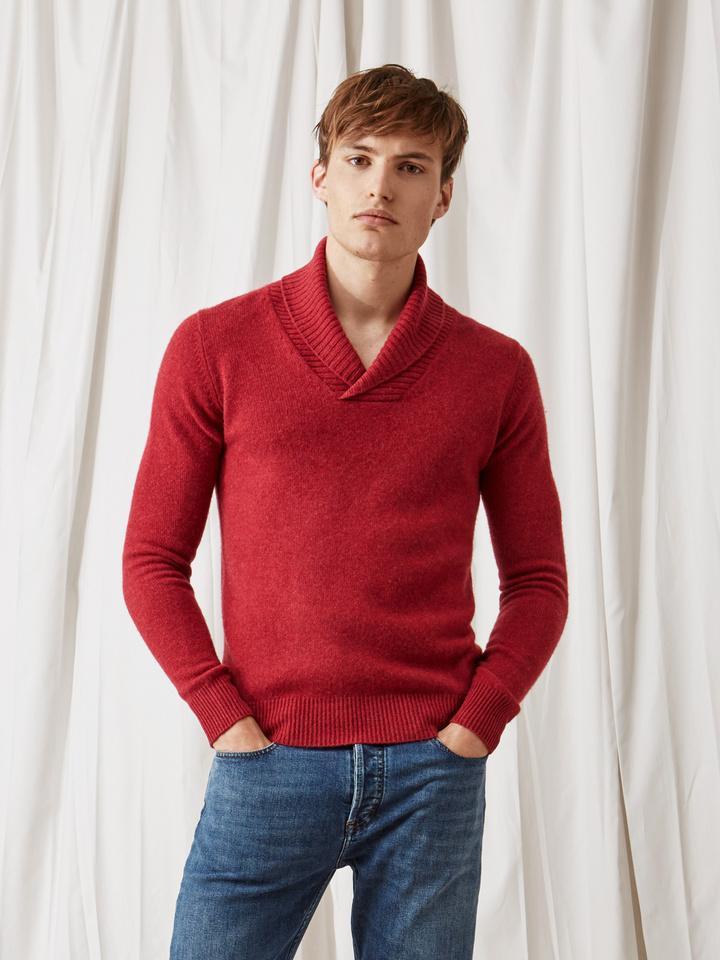 Soft Goat Men's Chunky Collar Pomegranate