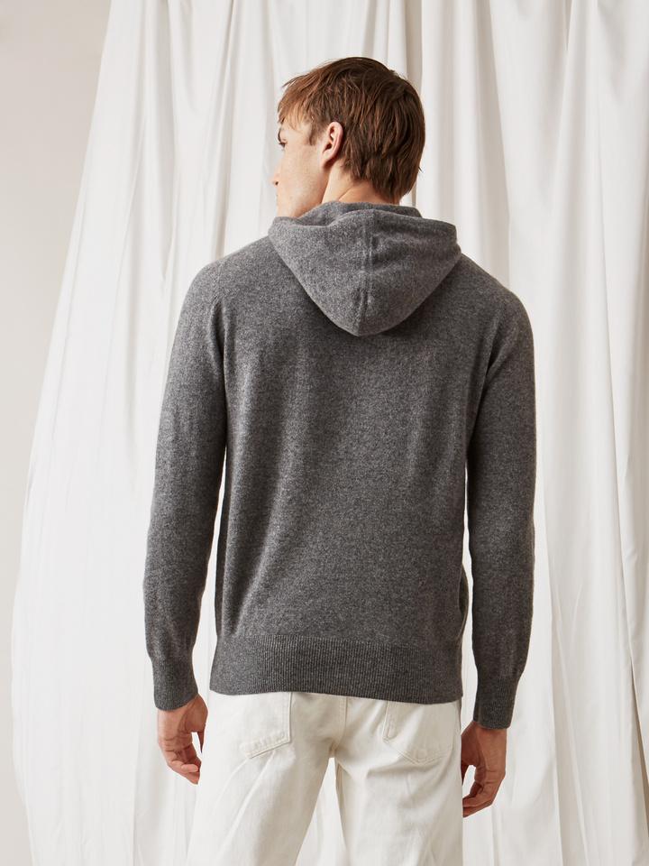 Soft Goat Men's Hoodie Without Zipper Dark Grey