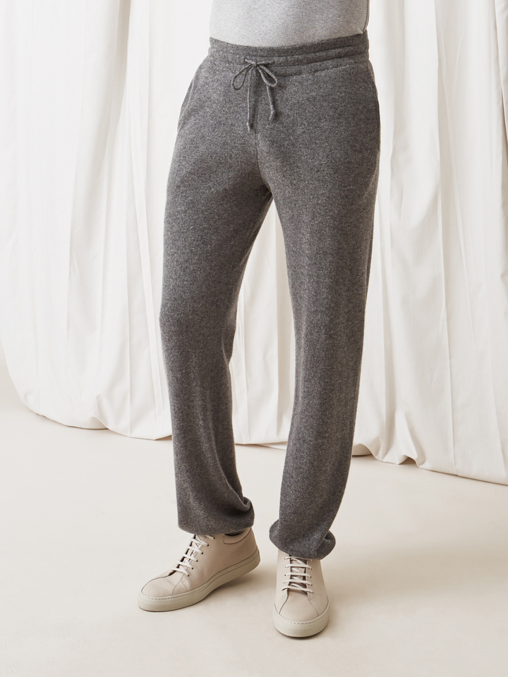 Soft Goat Men's Pants Dark Grey