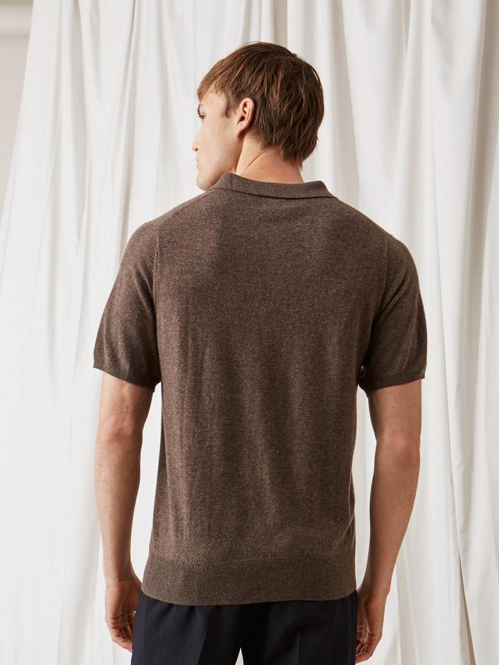 Soft Goat Men's Pique Shirt Mocca