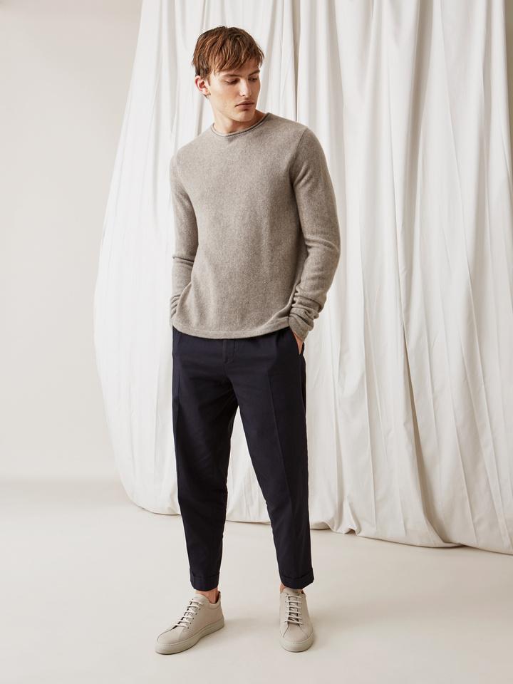 Men s Roll Neck Sweater - Soft Goat Online Cashmere a1423cad6