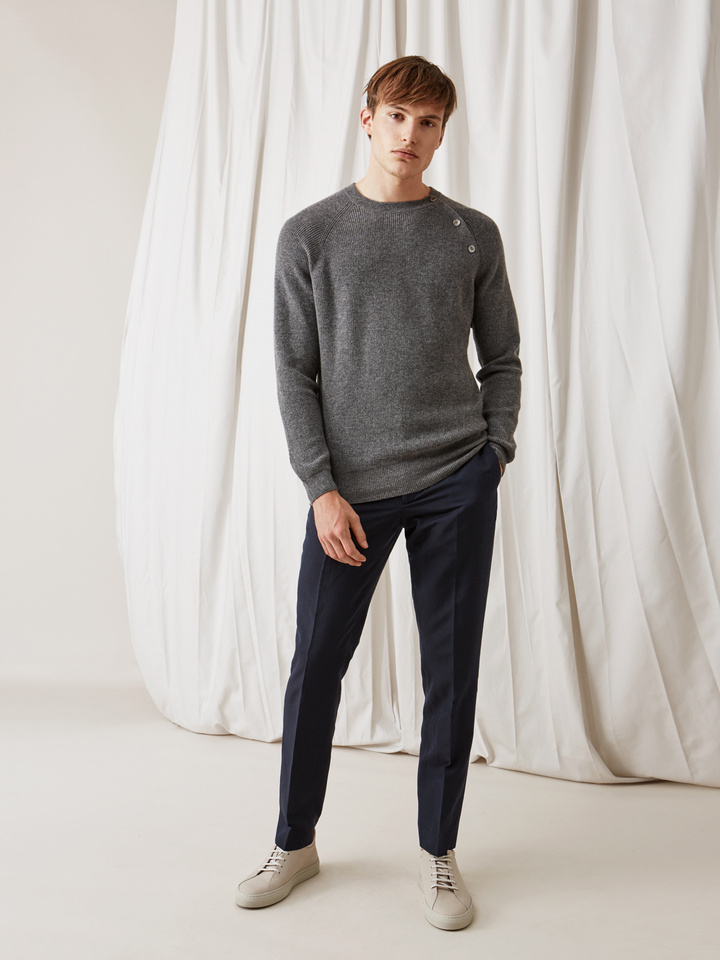 Thumbnail Men's Sweater with Buttons