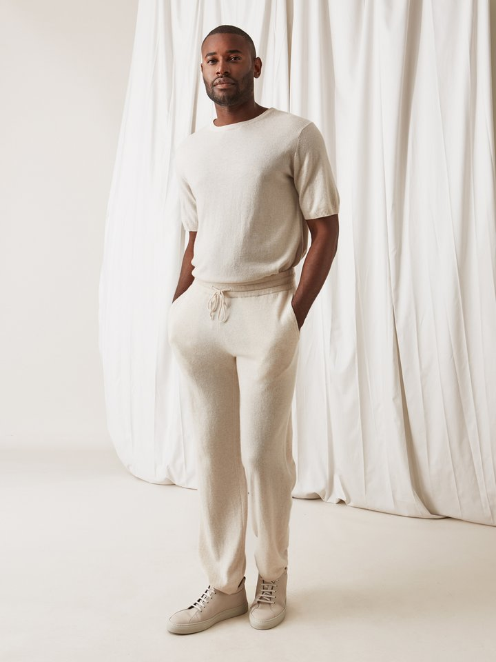 Soft Goat Men's T-Shirt Beige