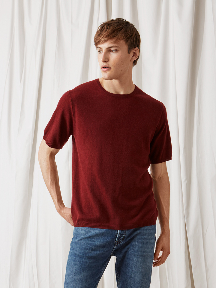 Soft Goat Men's T-Shirt Burgundy