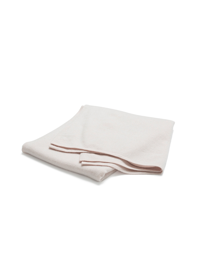 Soft Goat Plain Knitted Scarf Powder Pink