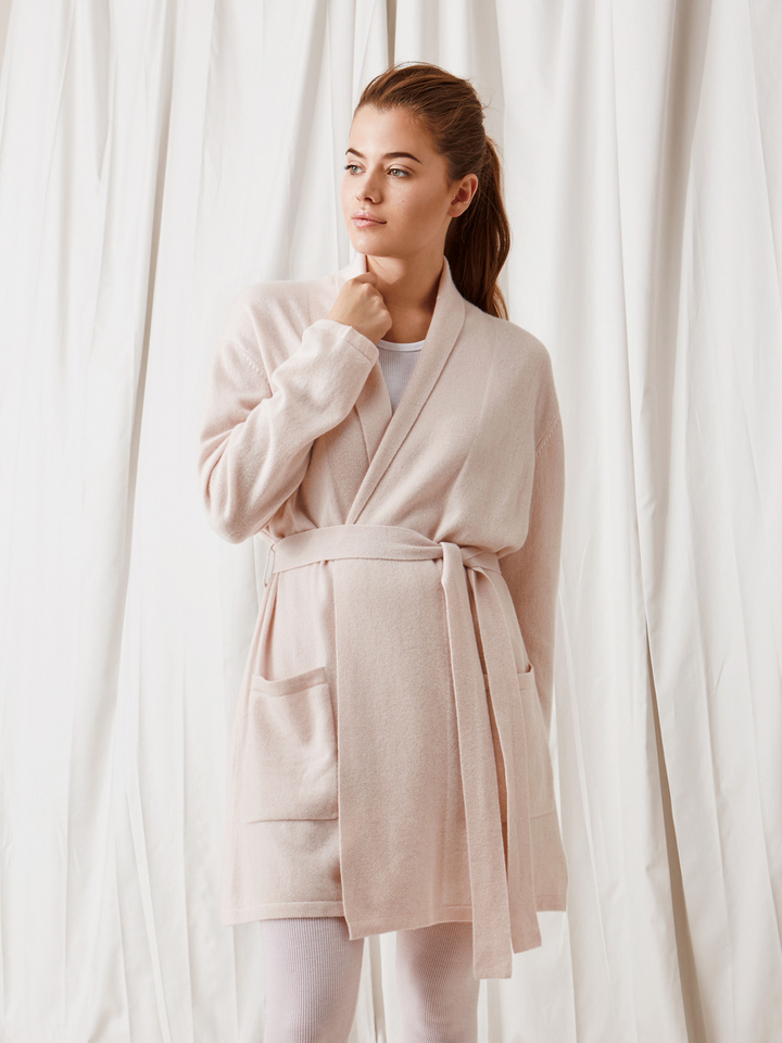 Soft Goat Bathrobe Powder Pink