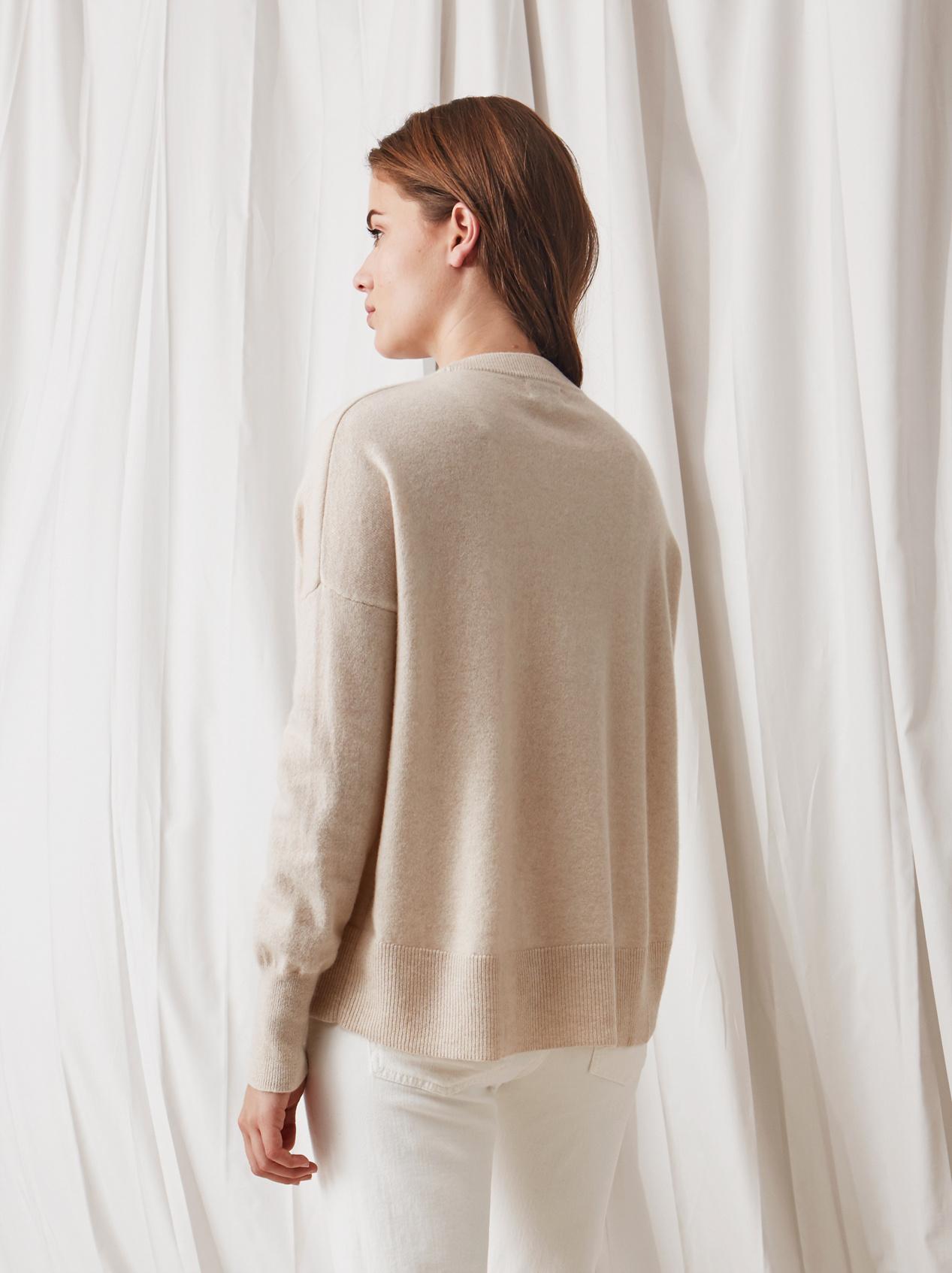 Soft Goat Boyfriend Sweater Beige
