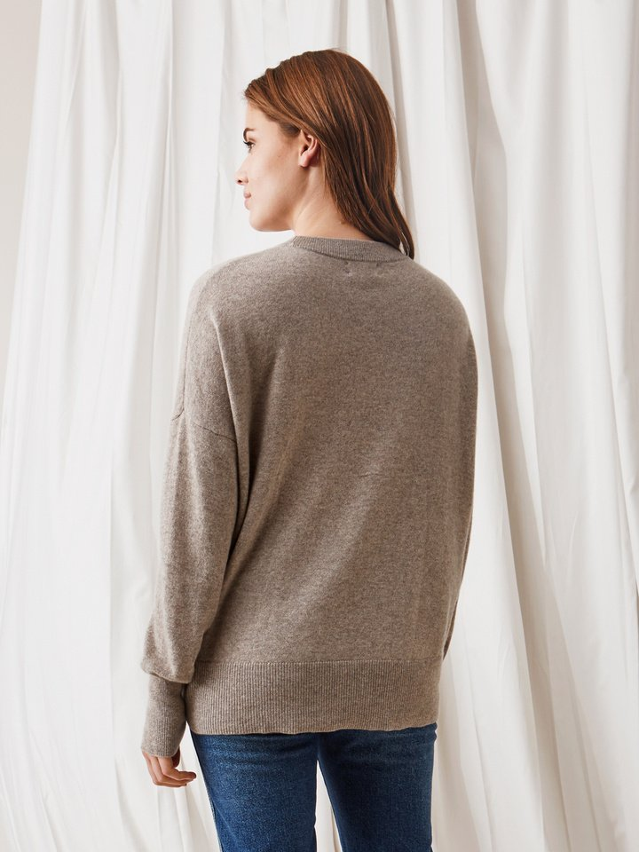 Soft Goat Boyfriend Sweater Light Taupe