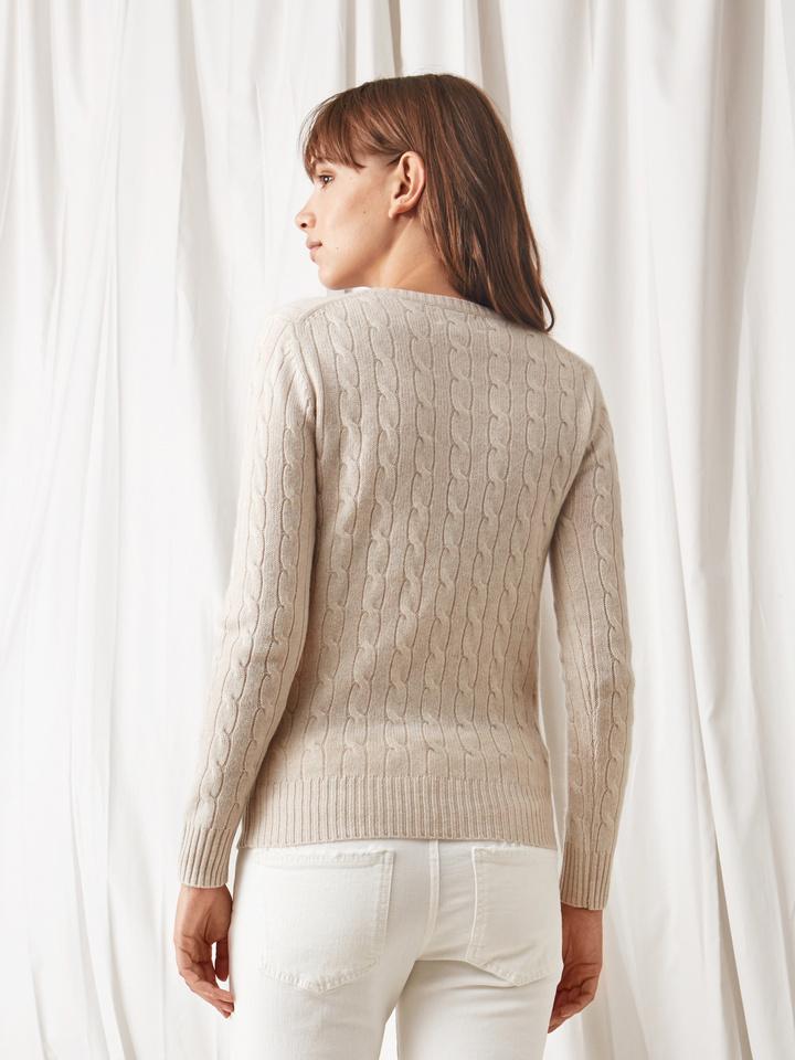 Soft Goat Cable Knit Beige