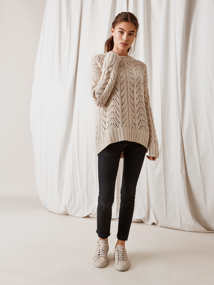 Thumbnail Women's Eyelet Sweater