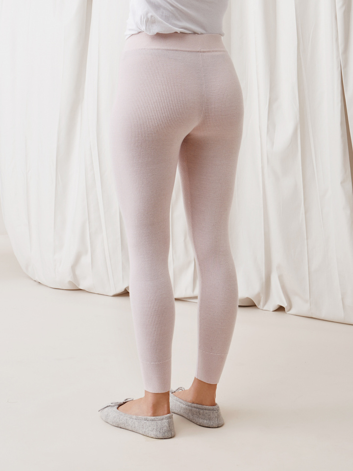 Soft Goat Women's Fine Knit Tights Marshmallow