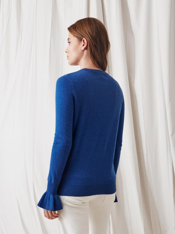 Soft Goat Frill Sweater Royal Blue