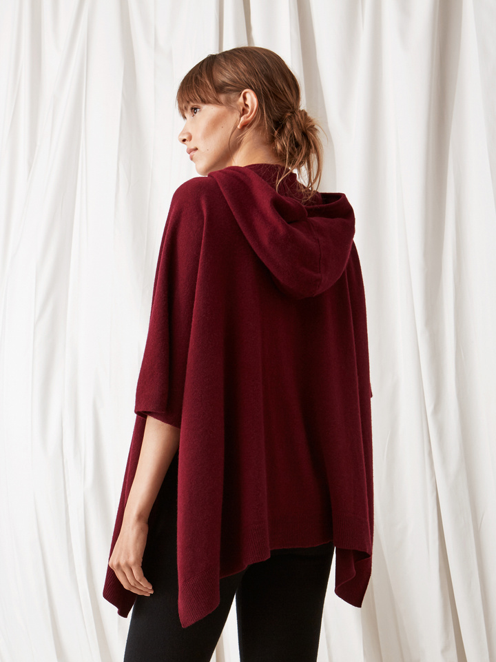 baa9ab4d3 Women's Hooded Poncho - Soft Goat Online Cashmere