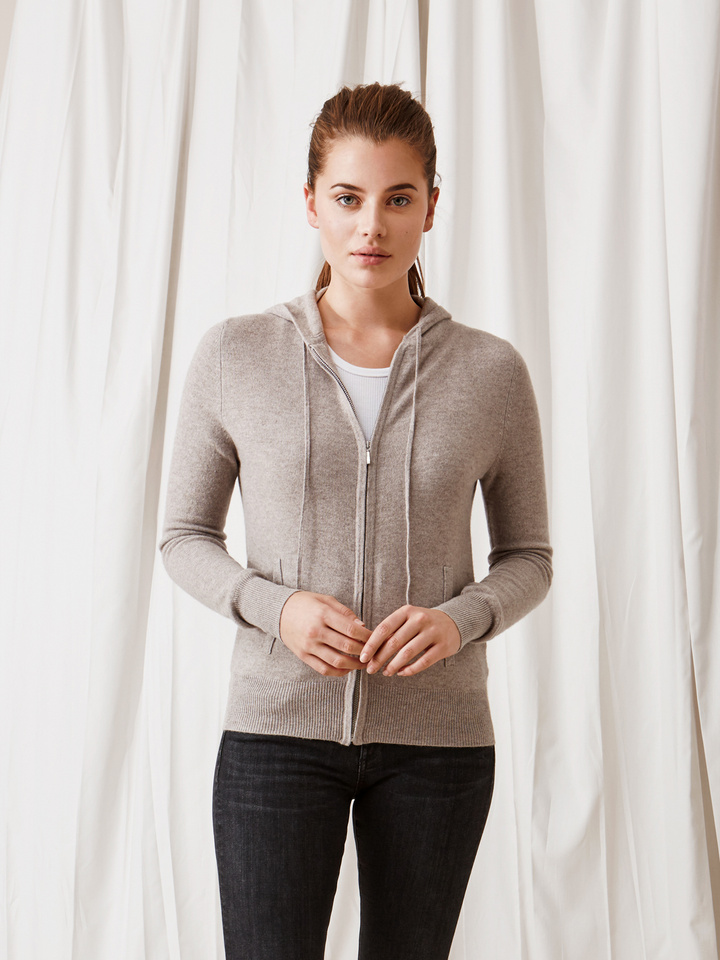 Soft Goat Women's Hoodie Light Taupe